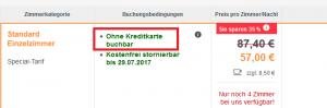 Hotels.de ohne kredikarte bezahlen